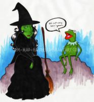 When Kermie Meets Elphie by the-Mad-Hatress