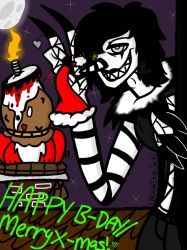 happy birthdaymerry christmas laughing jack by yaoilover113 on deviantart