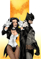 Zatanna and Batman by Sorathepanda