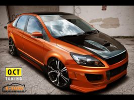 Ford Focus Sedan Front by x-tomi