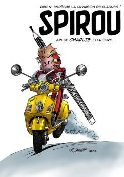 Spirou - Je suis Charlie by vincent-fourneuf