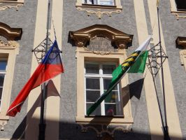 Flags in Prague by IsK4nD3R