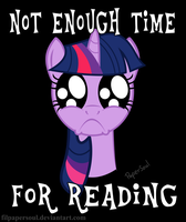 Not enough time for reading by FilPaperSoul