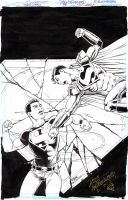 TEEN TITANS Unused Alternate Cover SUPERBOY Sold by DRHazlewood