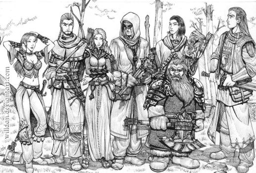 Fantasy fellowship by WillDan