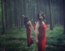Red dress by LaMusaTriste