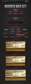 Wooden Web Set PSD by NishithV