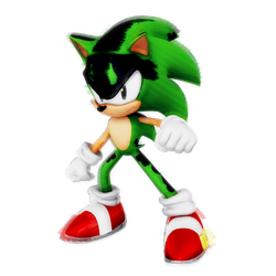 Glitch Sonic? Render by Nibroc-Rock