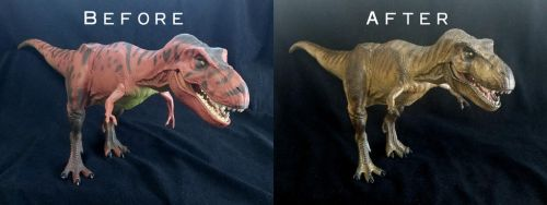 Kenner Jurassic Park 1993 T-Rex Repaint by Inaros131
