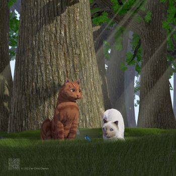 Cats in the forest... by crispychaney