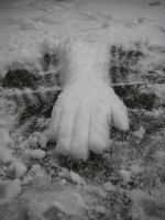 Snow arm: Reaching by JaffaCakeLover