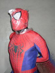 Spider-man bagged for some breathplay 2 by rubbermask