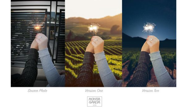 Photoshop Photo Retouching for Engagement Photo by montia