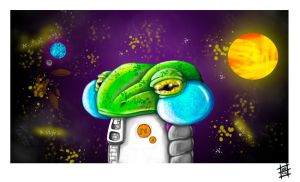 Space frog by BrainBlueArts