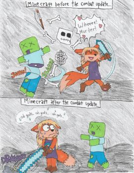 Minecraft-Keep on swingin! by tails-sama