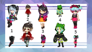 OTA - Gaia Adopts - Randoms 1 - 3/5 by Runic-Potato
