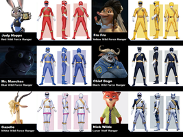 Power Rangers Wild Force (Zootopia) by Powershade117