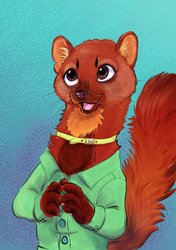 Pine Marten (Comission) by Wooga