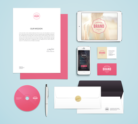 Branding / Identity PSD Mock-Up by GraphicBurger
