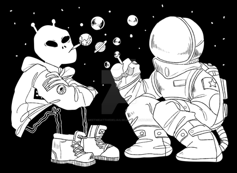 Space squat by meetmeatthedeliailse
