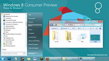 Windows 8 Consumer Preview for Win7 by fediaFedia