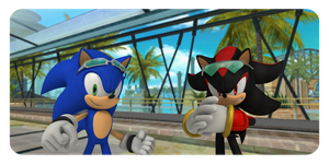 Sonic Vs. Shadow by Riderssonic123