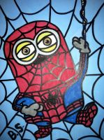 Despicable Me Minion Spider Man by sampson1721
