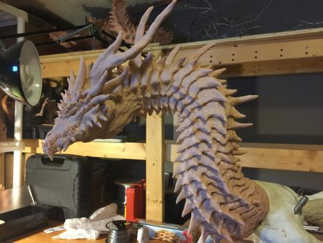 Ungotesluth, Dragon Titan WIP by Tiamatus