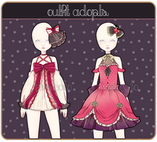 .: Outfit Adopts I {1 Left!} :. by Biiiscoito