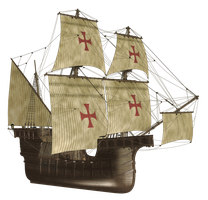 Galleon PNG Stock by Roy3D