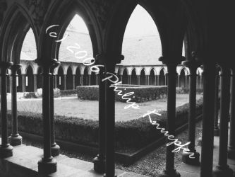 Mt. St. Michel: Cloister by LordOfShades