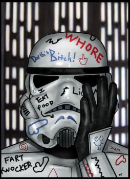 Hungover Stormtrooper by HeroforPain