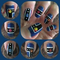 Pacman Nail Art 2017 Left by MikariStar