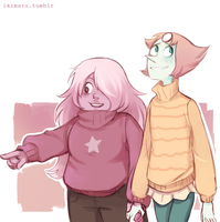 Pearlmethyst Sweaters by ikimaru-art