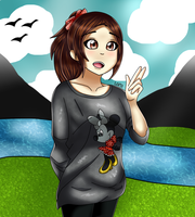Me in anime style ~ by LarraLy