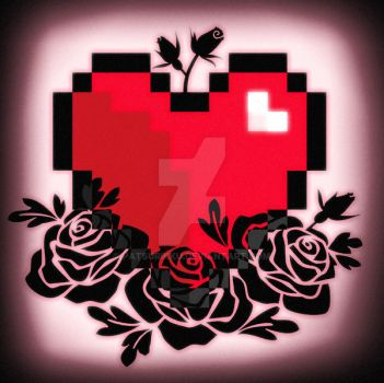 Valentine's Day game life love heart n' roses by Patsurikku