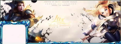 League of Legends Lux Cover Facebook by mazeko