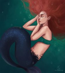 Mermay: Day 23 by LornaKelleherArt
