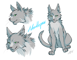 Warriors: Needlepaw's design by Marshcold