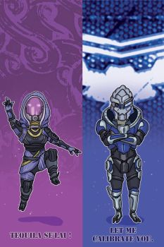 bookmark: Tali and Garrus by Elica-Prin