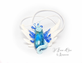 Ice Dragon necklace by rosepeonie