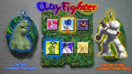 ClayFighter Reboot Character Select MOCKUP by UncleBibby47