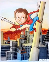 Spiderman Commission by ComicsByAndie