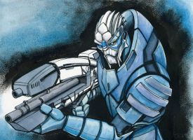 Mass Effect: Garrus Commission by JarOfComics
