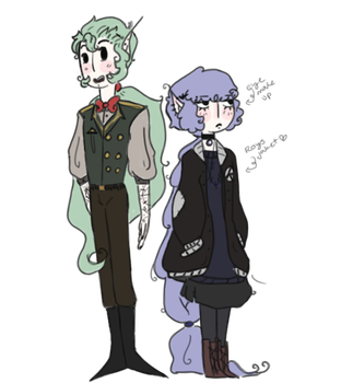 olive and oliver pendragon by Ask-Olive-And-Oliver