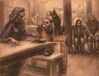 to unwritten tale about a dwarf (ill. 10) by Irsanna