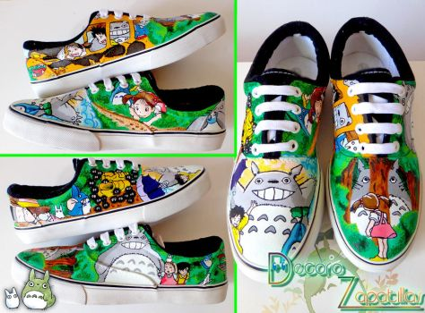 Totoro skater shoes by Raw-J