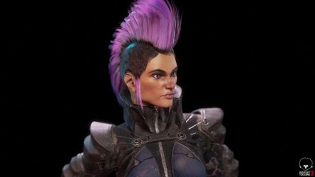 Futurepunk Female Gunfighter - Close Up Portrait by jubjubjedi