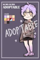 [CLOSE] ADOPTABLE KUMA KUMA by kuronekovictim