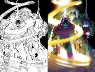 Avengers3 cvr Inks to color by DeanWhite